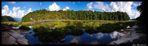 Potaro River above Kaituer by jmbroscombe
