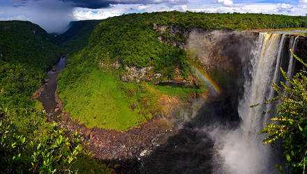 Kaituer Falls Panorama by jmbroscombe