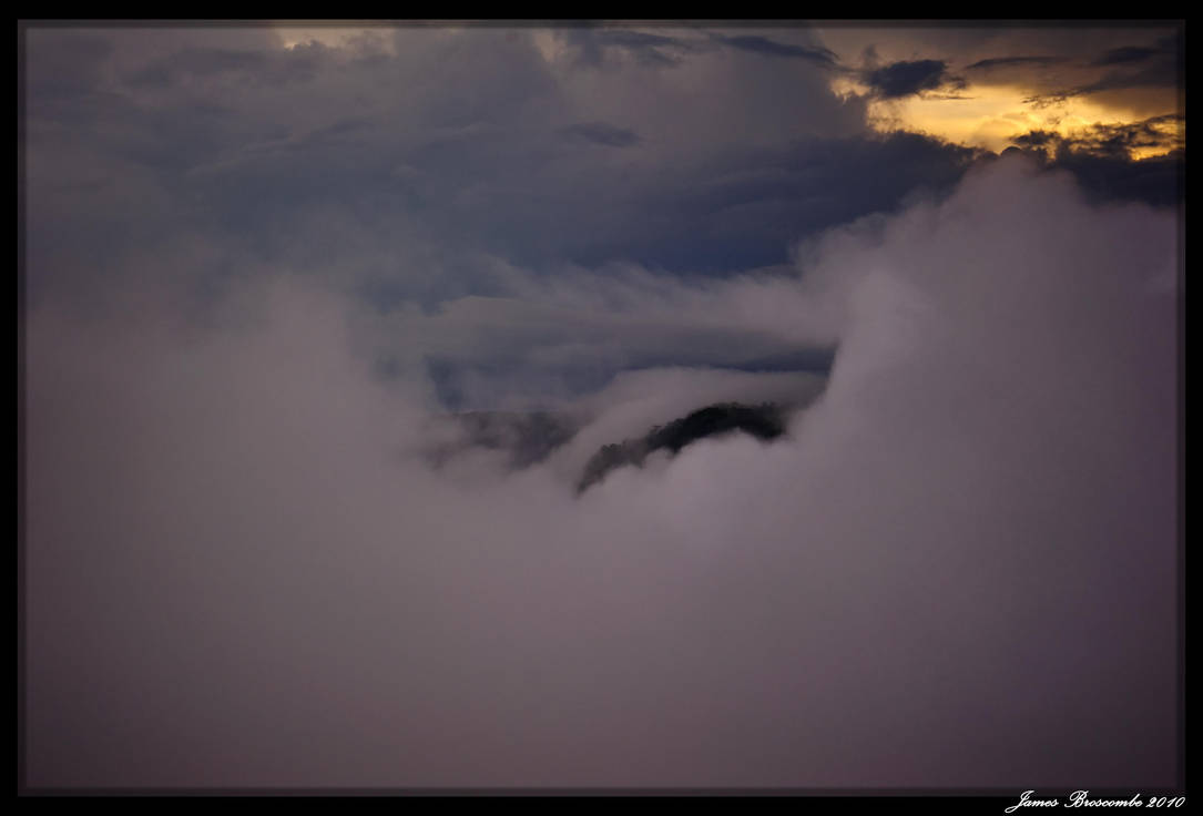 Kaiteur in Mist 2 by jmbroscombe