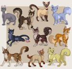 Warrior Cats Designs #3 by MissyDakota