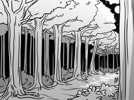 30 day sketch project - trees by daughter-thursday