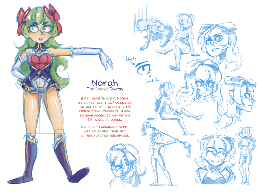 Norah Ref + Sketchdump (Queenly) by daughter-thursday