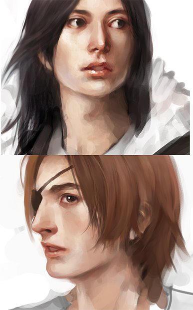 Yosuke and Leon face shots by Furipon