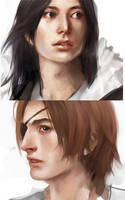 Yosuke and Leon face shots by Furipon