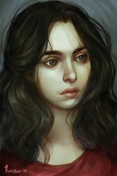 portrait of Hjordis by Furipon
