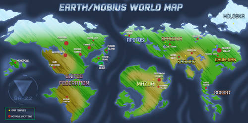 Sonic Universe - World Map .:OPEN PROJECT:. by SilverRevolt