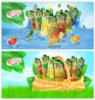 kean juice campaign by designer-brain