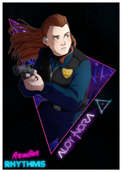 Arcadian Rhythms - Aloy Nora (poster) by Destiny-Smasher