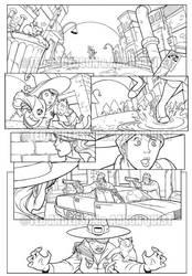 Peculiar Jones, page 1, inks by peculiarjones