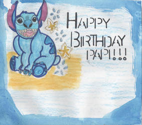 Disney- WaterColour Birthday card for my Dad! by X-Miss-Valerie-X