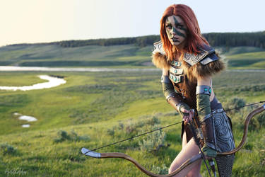 Aela the Huntress from Skyrim by aprilgloriacosplay