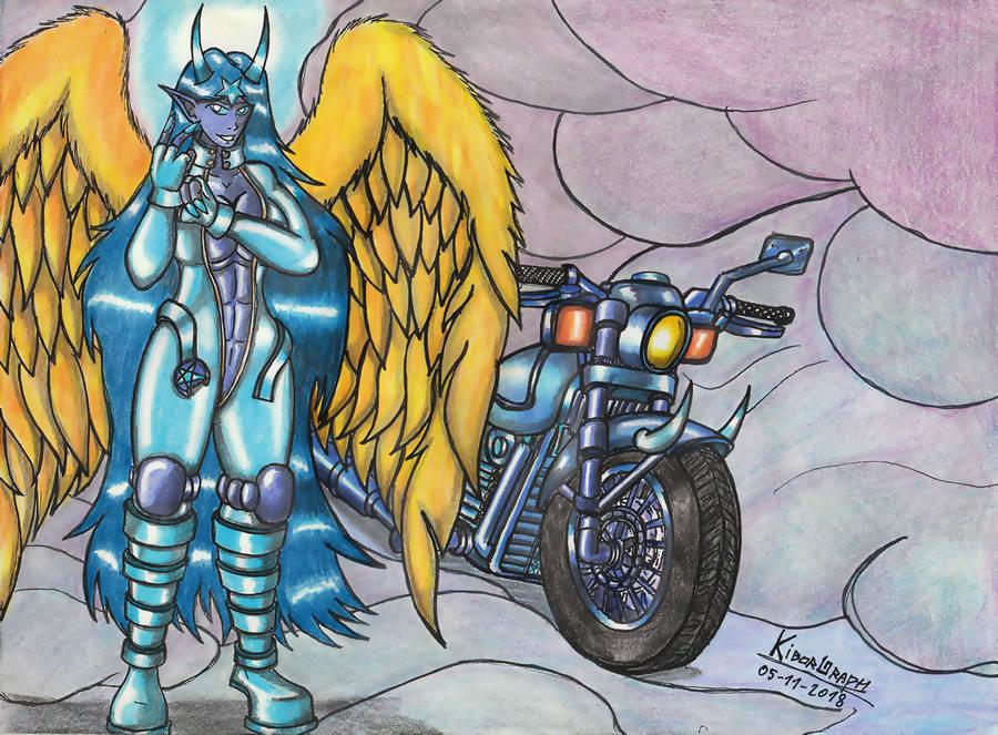 Biker Goddess Baphomet. by Kiborg-Graph