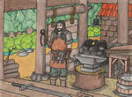 A Lonely Blacksmith. by Kiborg-Graph