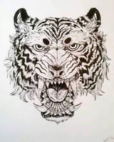 tiger inktober by TheWolfMaria