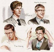 Men wearing eyeglasses by velvet-toucher