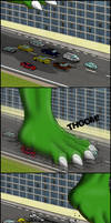 Max stomping car traffic by MaxDraggy