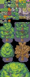Tileset bosque expansion rtp - RPG Maker XP by Mataraelfay