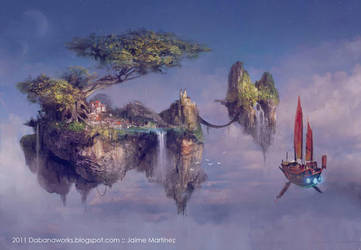 City in the clouds by Dabana