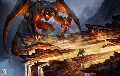 The battle against Vragor by Dabana