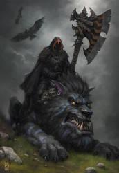 Wolf Guard Battle Leader by Dabana