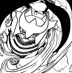 Giratina Vector - Black and White by Areodus