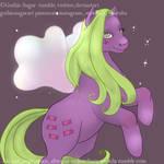 Yum Yum g1 flutter pony by gothicsugar