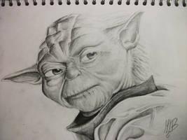 Master Yoda sketch by TheFantasyArtist