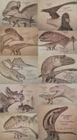 Dinovember 2018 Sketches: 21-30 by ArminReindl