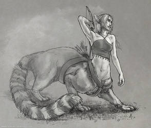 Sketch Commission: Animus-Panthera by KlakKlak