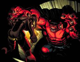 Red Hulk Smash by EdMcGuinness
