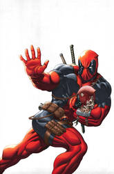 Deadpool cover colored by EdMcGuinness