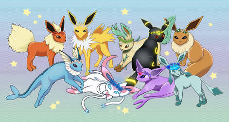 Eeveelutions by RoxyShadowpaw