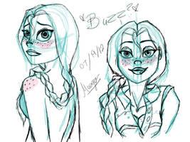 Jessie photo shop sketches by DarkmatterNova