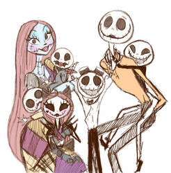The Skellington family  by DarkmatterNova