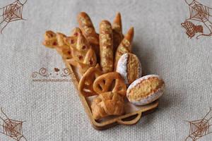 Scale 1:12 Miniature Assorted Bread by asuka-sakumo