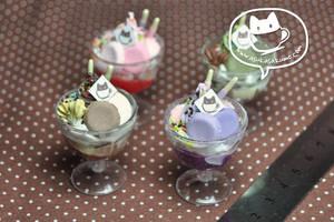 Scale 1:3 Miniature Parfaits by asuka-sakumo