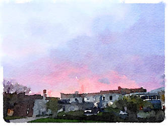 Sunset Watercolor by asommersby