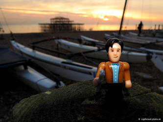 The eleventh doctor at the west pier by rotellaro