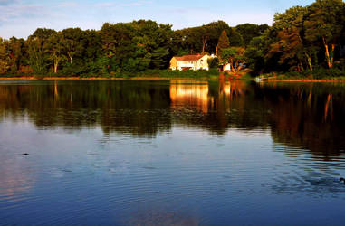 House by the Pond by byfrankiec