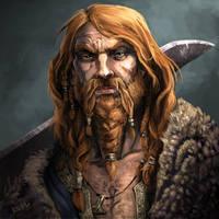 Egil, Thane Uthred's Huskarl by chriskuhlmann