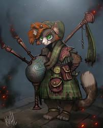Sparks Calhoun: Highland Piper by chriskuhlmann