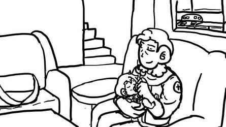 Adel Feeding the Baby by Ask-PrincessofKeys
