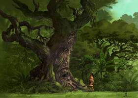 talking to the tree spirit by TheBeke