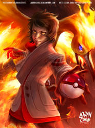 Candela and Moltres team valor by logancure