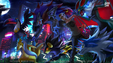 Commission: Lycanroc, Toucannon, Zoroark, Noivern by logancure