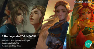 The Legend of Zelda 3 Pack by logancure