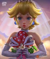 Wedding Princess Peach by logancure