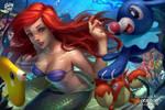 Ariel, popplio, corphish, luvdisc by logancure