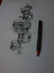 sward with skull tattoo drawing good for script... by Sagar555