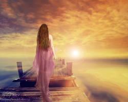 Walking to the Sun by BloodyMary-NINA